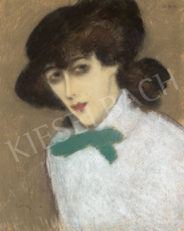 Rippl-Rónai, József - Girl in a Hat with Green Bow (Zorka), second half of 1910s