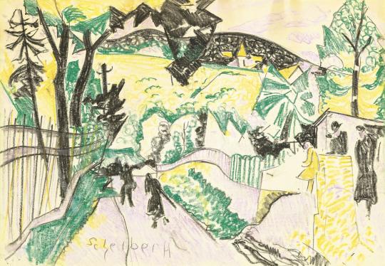 Scheiber Hugó - Budai dombok között (A séta) | 60. Téli Aukció aukció / 22 tétel