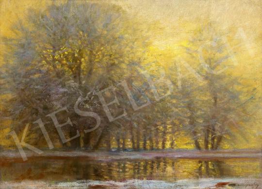 Mednyánszky László - Téli erdő különleges fényekkel | 60. Téli Aukció aukció / 25 tétel