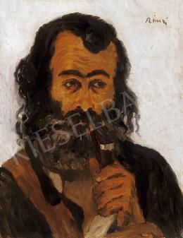 Rippl-Rónai József - Pipázó cigány, 1905
