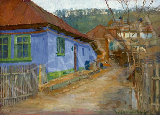 Halász-Hradil Elemér - Kék ház, 1910-es évek | 60. Téli Aukció aukció / 38 tétel