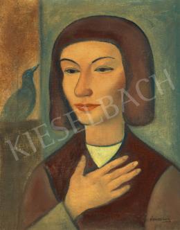 Kontuly, Béla - Woman with Bird (Fairy Tale)