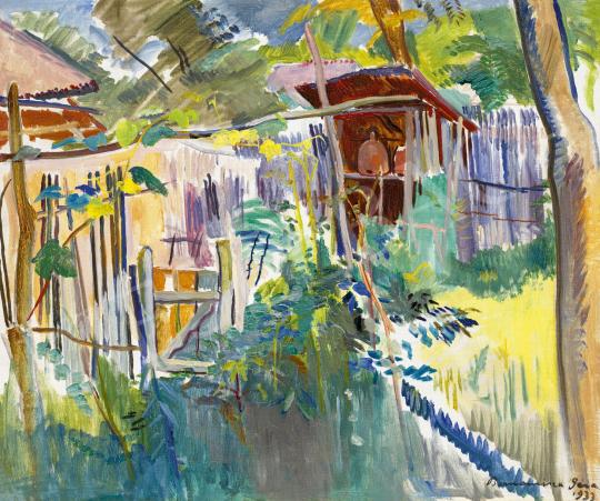 Bornemisza Géza - Napsütötte kert (Méhes), 1933 | 60. Téli Aukció aukció / 44 tétel