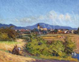 Mikola, András - Nagybánya Landscape with a Painter