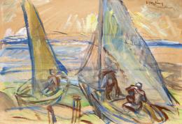 Egry, József - Sailing Boats on the Lake Balaton (Keszthely), 1920