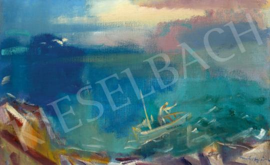Márffy Ödön - A vitorlás (Fények a víz felett), 1939 körül | 60. Téli Aukció aukció / 63 tétel