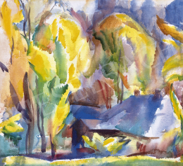Aba-Novák, Vilmos - Autumn Landscape in Zugliget, c. 1923