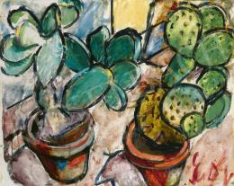 Dénes Valéria - Csendélet kaktuszokkal, 1913 körül