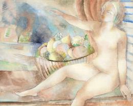 Klie Zoltán - Art deco akt gyümölcstállal, 1930 körül