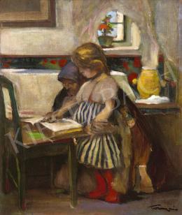 Tornyai János - Ismerkedés a betűkkel (Népoktatás a tanyán), 1904 körül