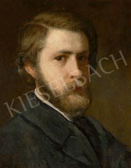 Lotz Károly - Fiatalkori önarckép, 1860-as évek eleje