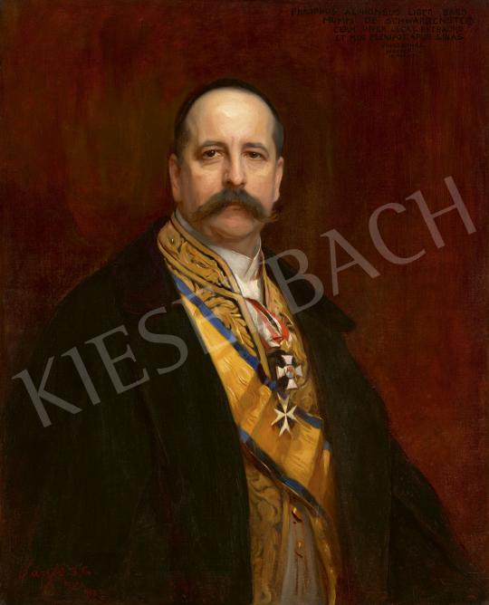 László Fülöp - Alfons Mumm von Schwarzenstein portréja, 1903 | 60. Téli Aukció aukció / 100 tétel