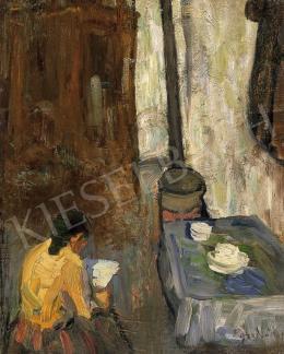 Egry József - A művész édesanyja a konyhában