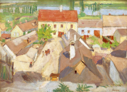 Fényes, Adolf - Roofs in Szentendre, 1907