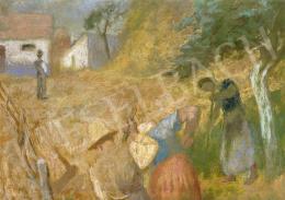 Szőnyi István - Kertben (Kerti munka), 1937