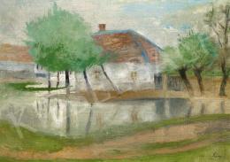 Szőnyi István - Zebegény eső után, 1930-as évek