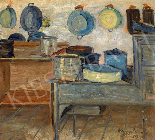 Nagy István - Konyhabelső, 1910 | 60. Téli Aukció aukció / 124 tétel