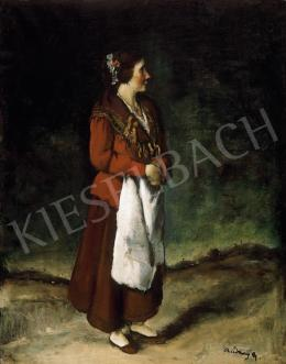 Rudnay Gyula - Asszony fehér kötényben