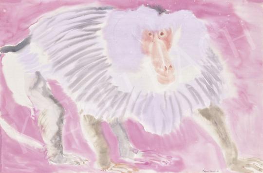Hajnal János - Majom, 1951 | 60. Téli Aukció aukció / 149 tétel