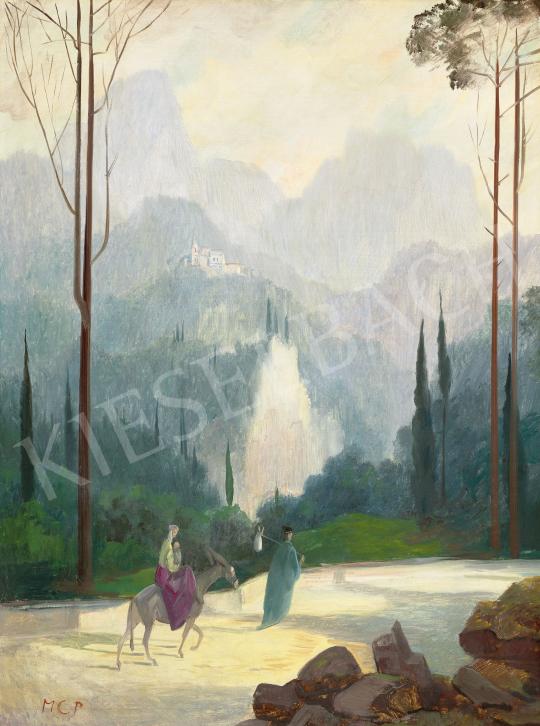 Molnár C. Pál - Itáliai táj | 60. Téli Aukció aukció / 154 tétel