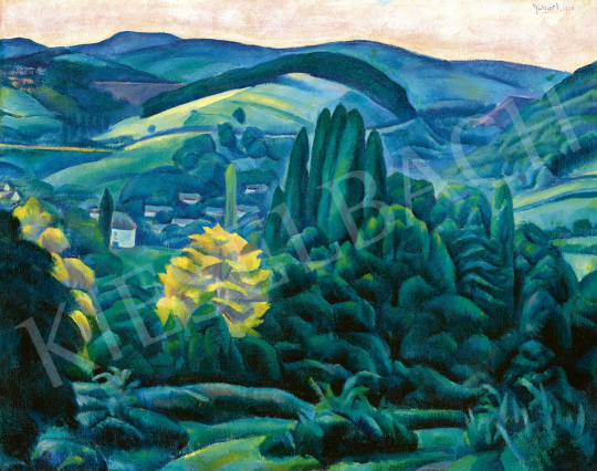 Gábor Jenő - Pécs környéki táj, 1920 | 60. Téli Aukció aukció / 157 tétel