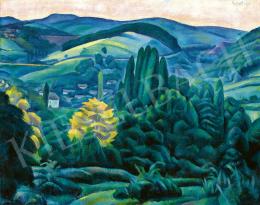 Gábor Jenő - Pécs környéki táj, 1920