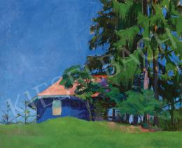 Benkhard Ágost - Kék ég (Nagybányai táj, 1911