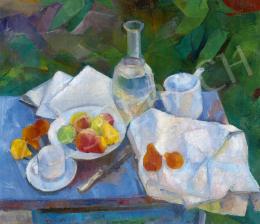 Barcsay Jenő - Kerti csendélet almákkal, körtékkel, 1928