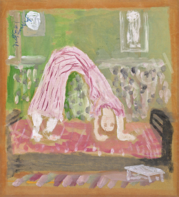 Anna, Margit - Upside Down (Self-Portrait in Striped Pink Dress), 1938