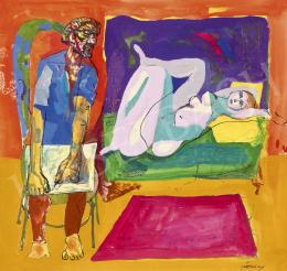 Szalay Lajos - Művész és modellje (Hommage á Picasso)