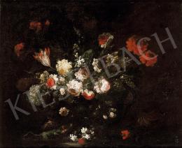 Ismeretlen olasz festő, 17. század (Margherit - Virágcsendélet