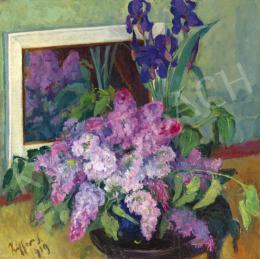 Ziffer, Sándor - Studio Still Life with Lilacs, 1919