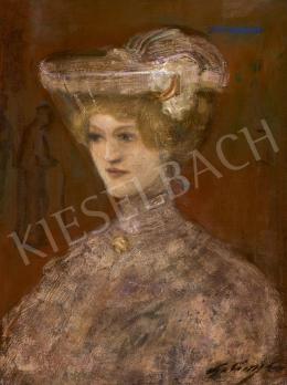 Gulácsy Lajos - Fiatal kalapos lány