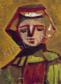 Bálint Endre - Fiatal lány zöld kabátban, 1946