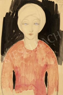 Vaszary János - Kék szemű lány, 1926