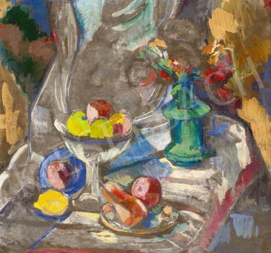 Perlrott Csaba Vilmos - Csendélet gyümölcsökkel | 60. Téli Aukció aukció / 216 tétel