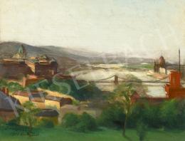 Benkhard Ágost - Budapesti látkép, 1923