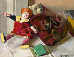 Aba-Novák Vilmos - Csendélet gyermekjátékokkal, 1915