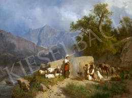 Markó, András - Italian Landscape with Shepherd Family