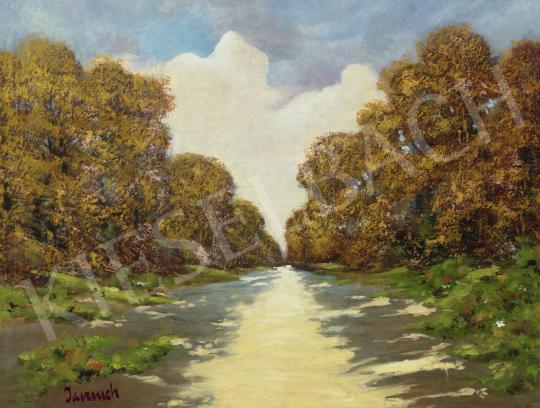 Jaszusch Antal - Napsütéses út az őszi erdőben | 60. Téli Aukció aukció / 32 tétel