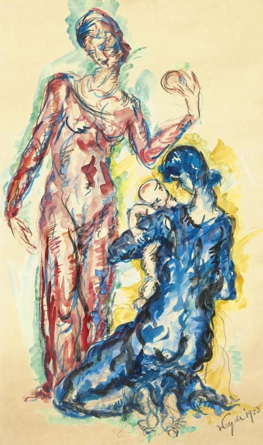 Weyde-Leweke Gizella - Anyaság, 1923 | 60. Téli Aukció aukció / 40 tétel