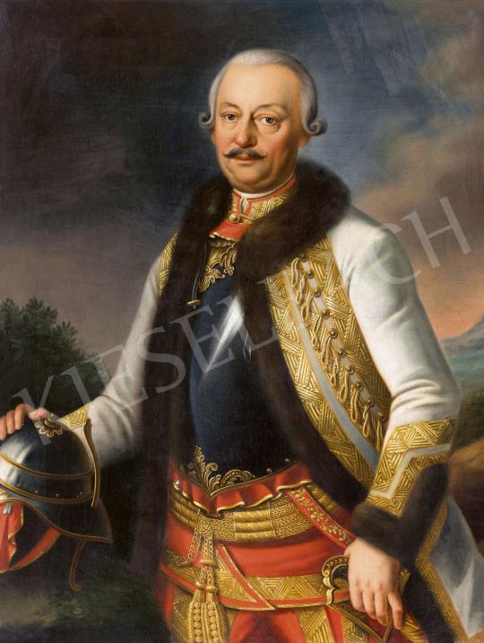 Ismeretlen 19. századi festő - Gróf Haller Sámuel generális portréja | 60. Téli Aukció aukció / 231 tétel