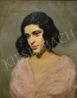 Glatz Oszkár - Rózsaszín ruhás lány, 1924