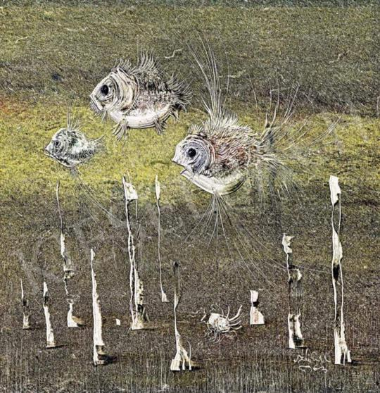 For sale  Szász, Endre - Fishes, 1963 's painting