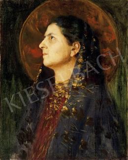 Vaszary János - Nő kendővel
