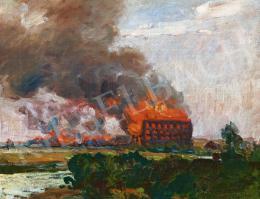 Skuteczky Döme - Folyóparti táj (Tűz)