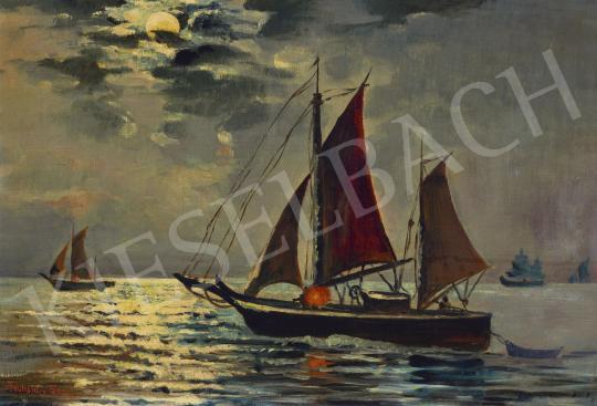 For sale  Tahsin Diyarkabilin - Sailing Boats on Bosporus 's painting