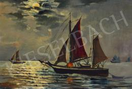 Tahsin Diyarkabilin - Sailing Boats on Bosporus