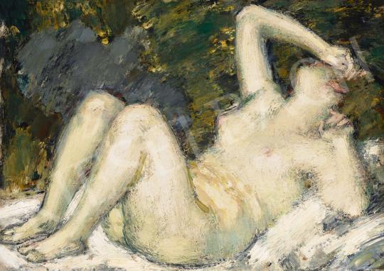 For sale  Vaszary, János - Lying Nude (Awakening), c. 1920 's painting