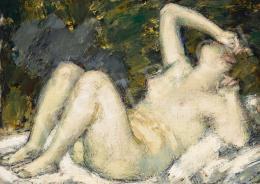 Vaszary, János - Lying Nude (Awakening), c. 1920